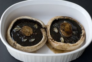 Marinade the portobello mushrooms