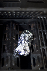 Smoke Pouch on a Gas Grill