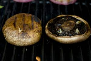 Grill the portobello mushrooms