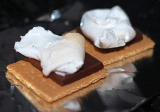 Assemble the s'mores