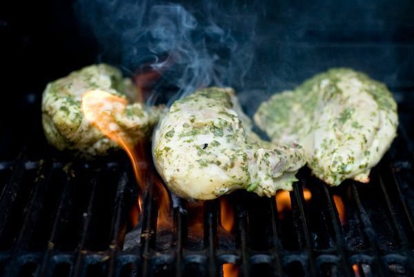How to grill split chicken breasts