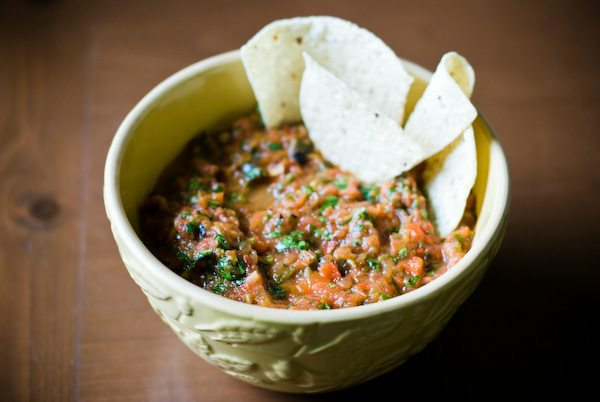 Grilled tomato salsa