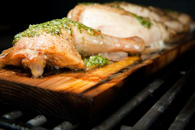 pesto planked chicken