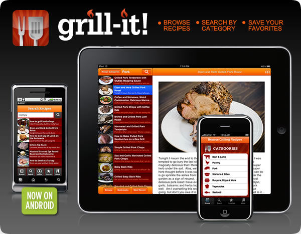 Grill-It! - A Grilling App for iOS & Android