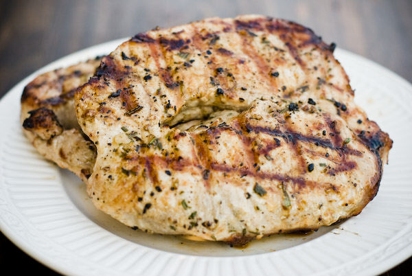 Grilled Garlic and Rosemary Pork Chops