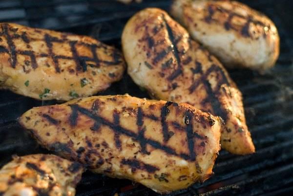 Thai chicken on the grill