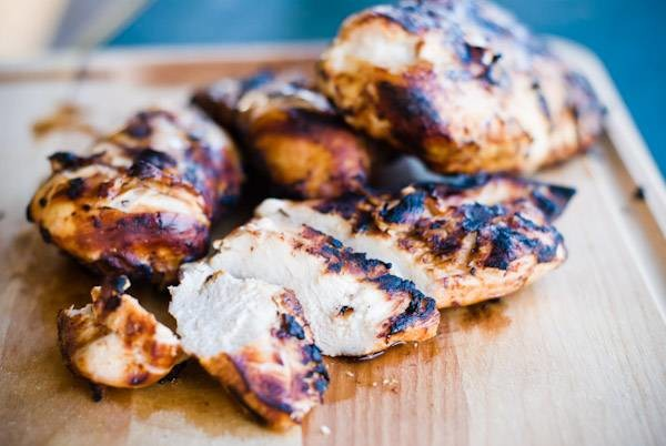 Marinated and grilled chicken