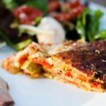 Grilled vegetable torte