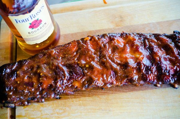 bourbon and ribs with barbecue sauce