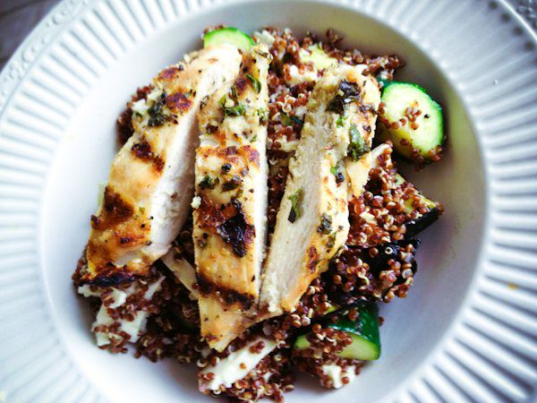 chicken, quinoa and zucchini
