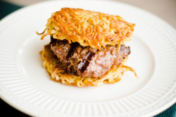 Grilled Ramen Burgers Grilling Companion
