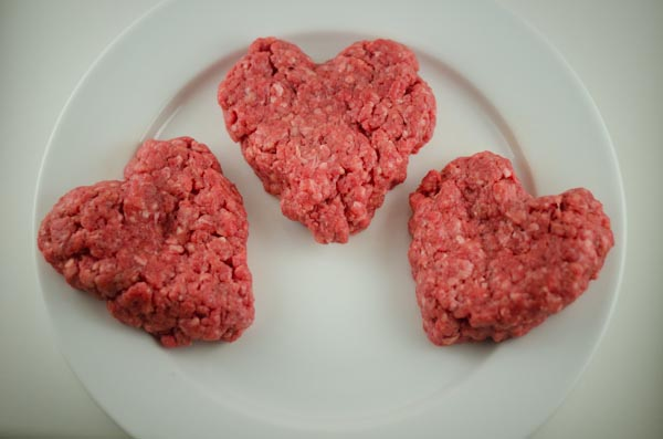 Heart Shaped Burgers